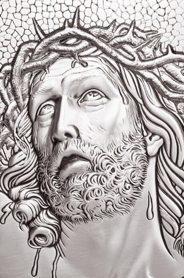 基督・耶稣纵向 免版税库存照片