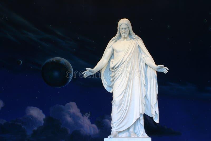 基督・耶稣雕象 免版税图库摄影