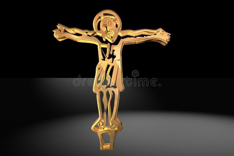 基督交叉金子 皇族释放例证