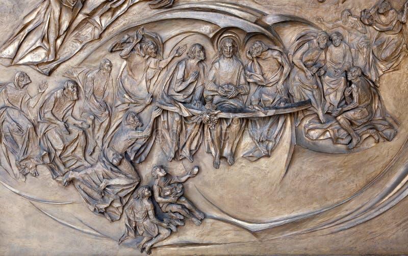基督前顿罗马晚饭 免版税库存图片