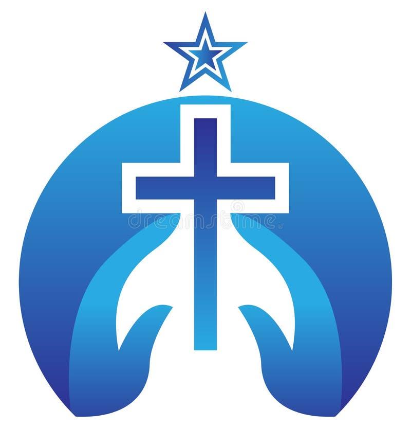 基督十字架 向量例证
