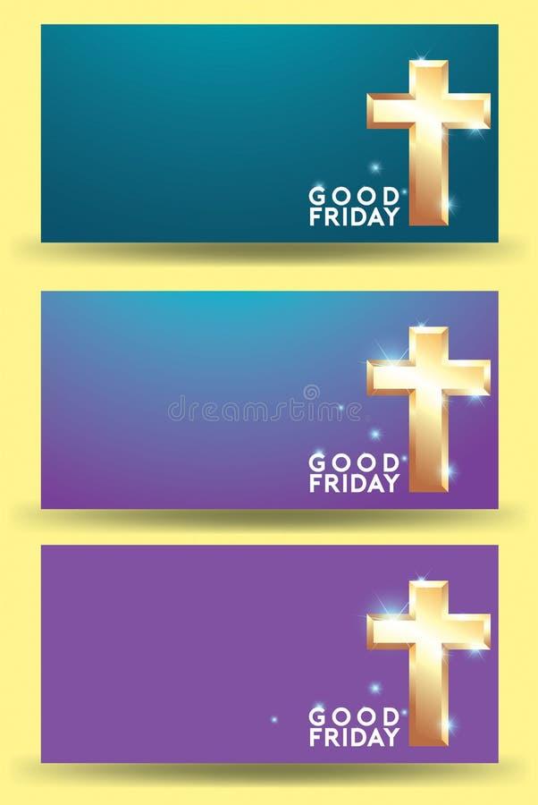 基督受难日背景设计 向量例证