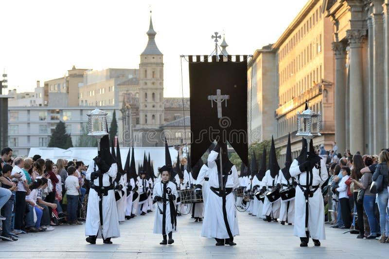 基督受难日队伍,西班牙 免版税图库摄影