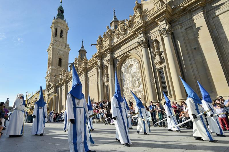 基督受难日队伍,西班牙 免版税库存图片