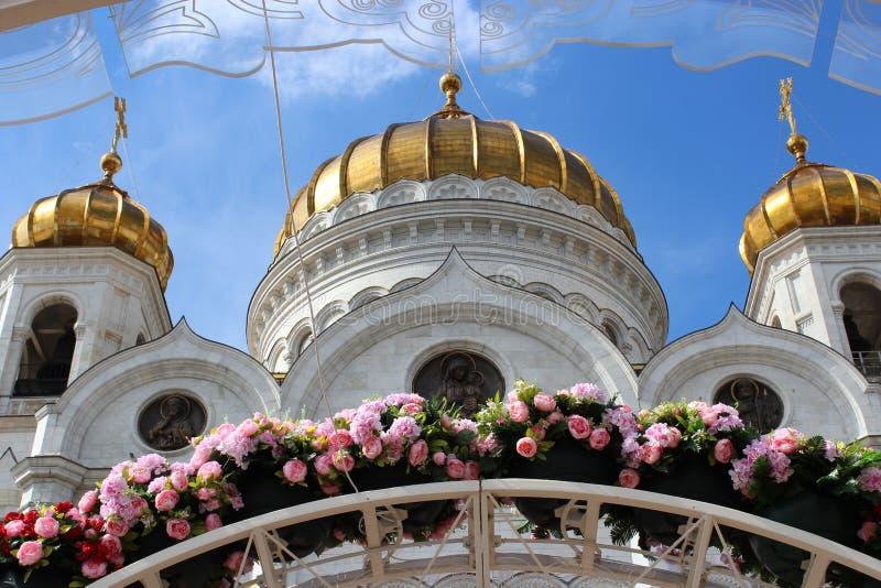 基督大教堂花框架的救主  免版税库存图片