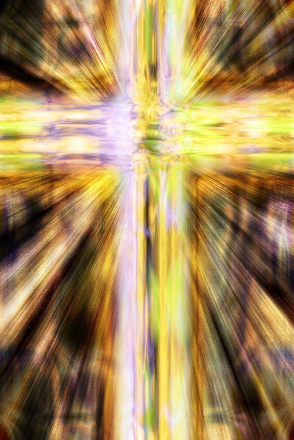 基督徒交叉发光 库存例证