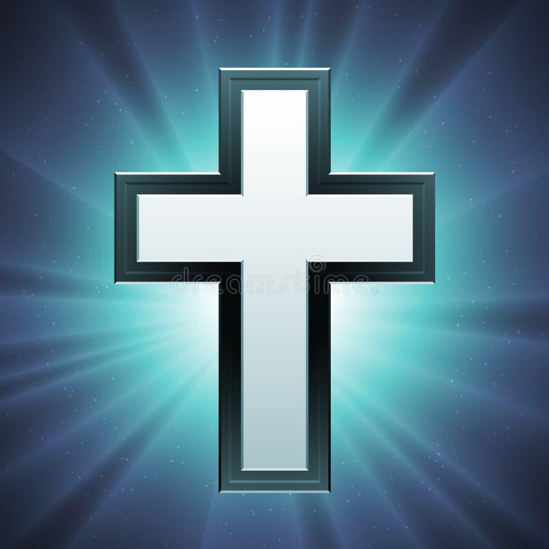 基督徒交叉向量 库存例证
