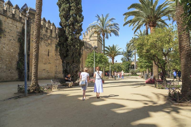 基督徒国王的城堡,科多巴,西班牙 免版税库存图片
