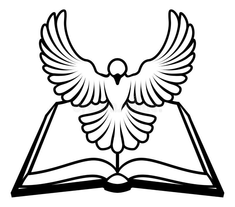 基督徒圣经鸠概念 皇族释放例证