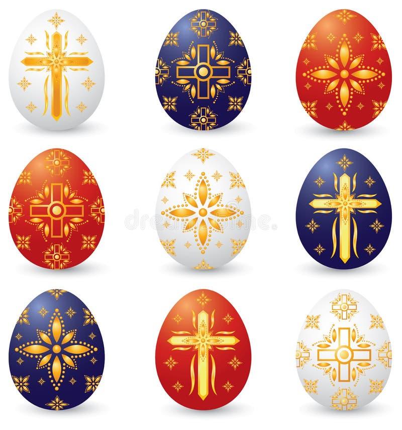 基督徒复活节彩蛋符号 向量例证