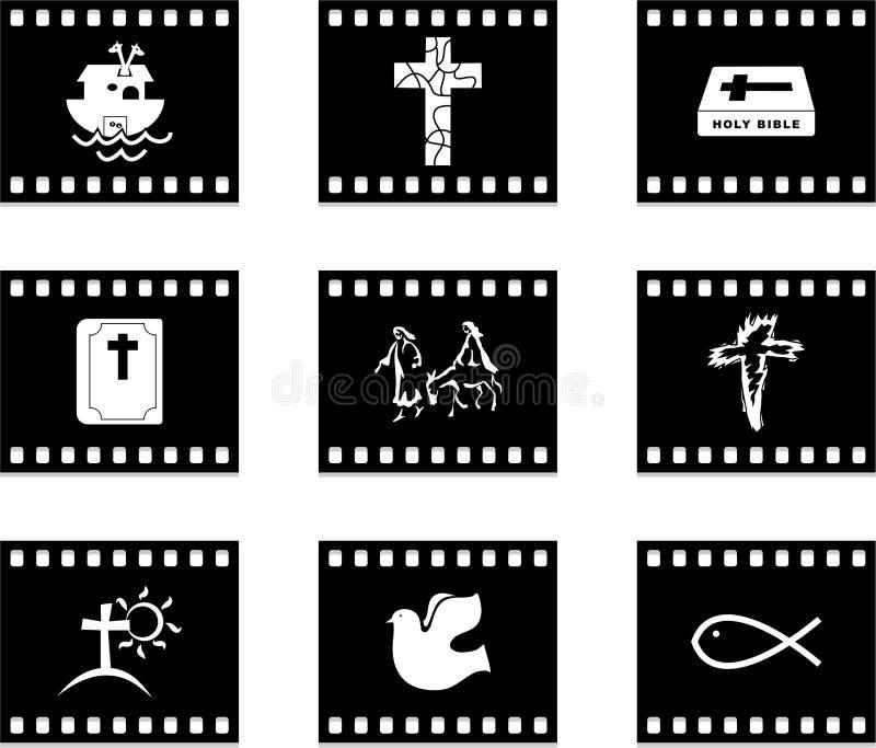 基督徒影片 库存例证