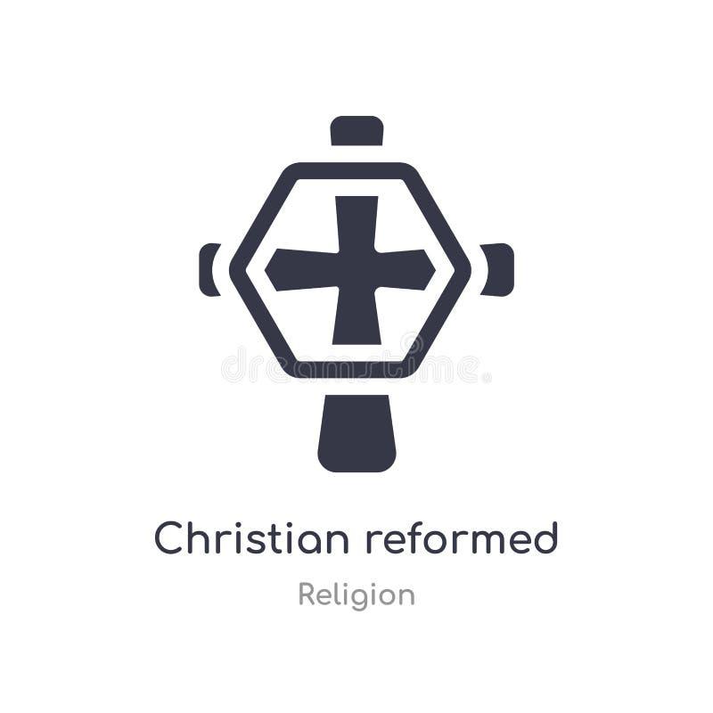 基督徒改革了教会象 被隔绝的基督徒改革了教会象从宗教汇集的传染媒介例证 r 皇族释放例证