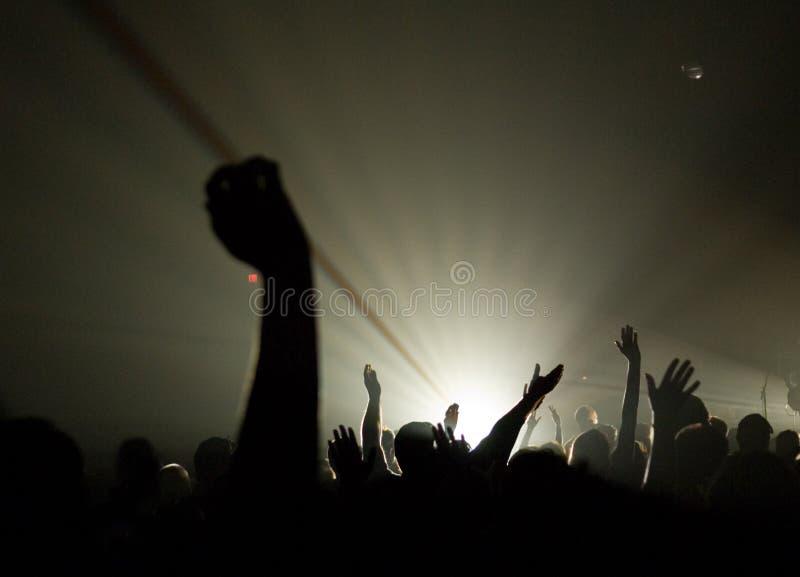 基督徒音乐会递音乐上升崇拜 库存照片