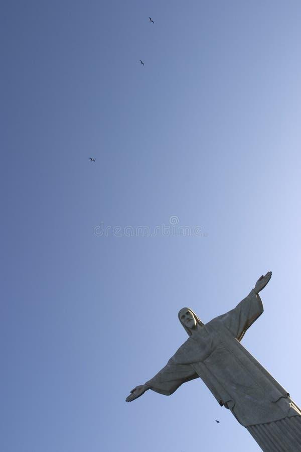 基督救世主和鸟 免版税图库摄影