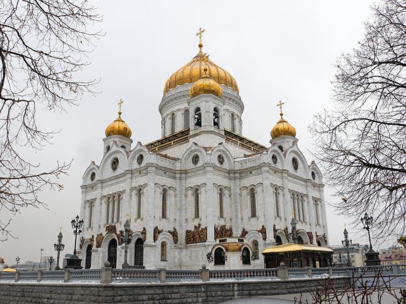 基督救主大教堂在莫斯科,俄国 免版税图库摄影