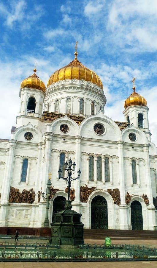 基督救主大教堂在莫斯科 库存照片