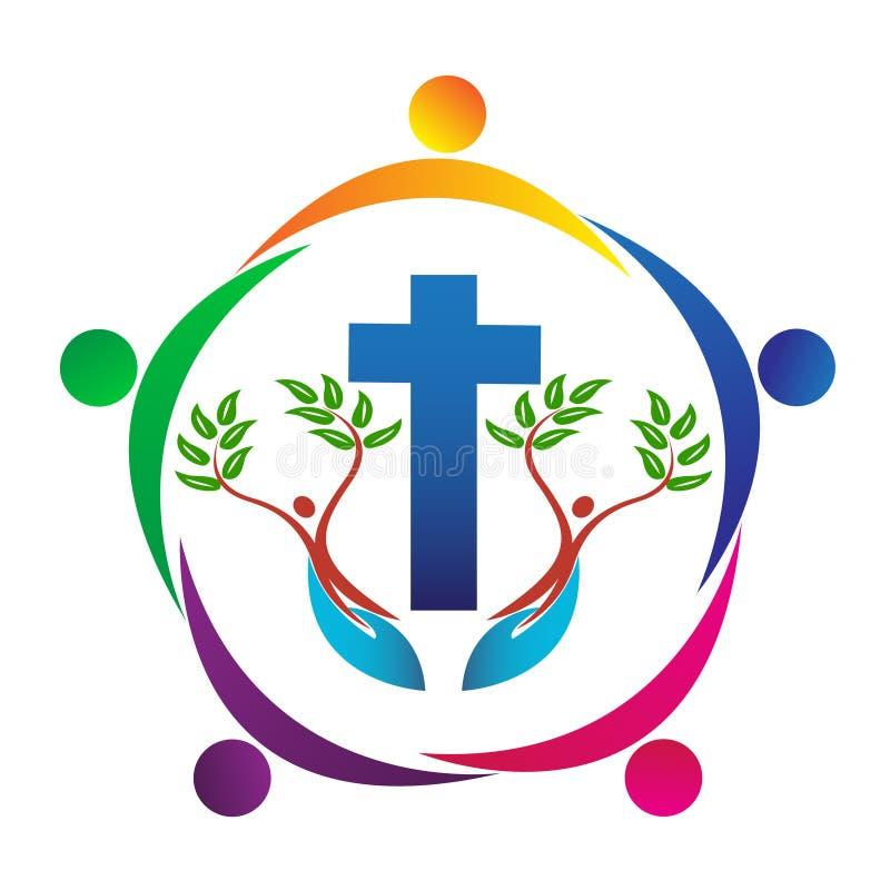 基督教人 向量例证