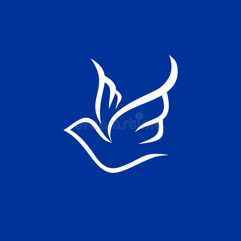 基督教会商标 鸠象,圣灵 向量例证