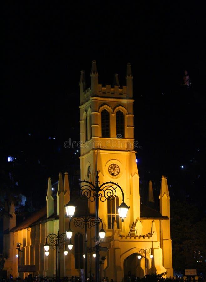 基督教会在西姆拉在印度 免版税库存图片