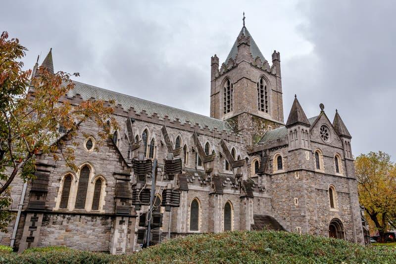 基督教会大教堂。 都伯林,爱尔兰 图库摄影