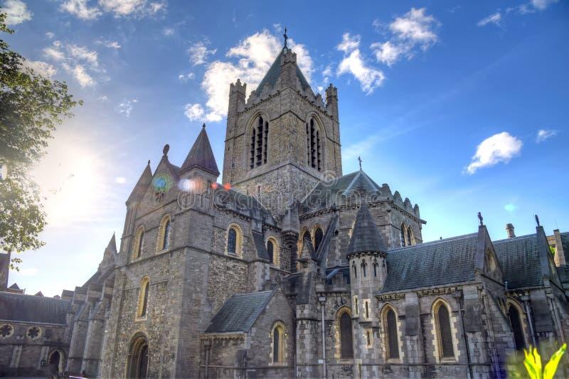 基督教会大教堂在都伯林,爱尔兰 库存图片