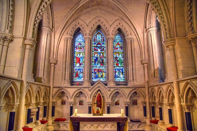 基督教会大教堂在都伯林,爱尔兰 免版税库存照片