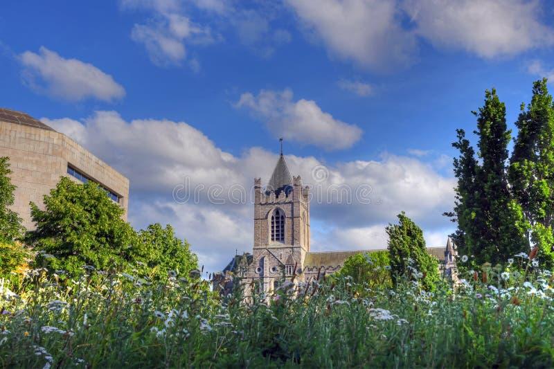 基督教会大教堂在都伯林,爱尔兰 免版税库存图片