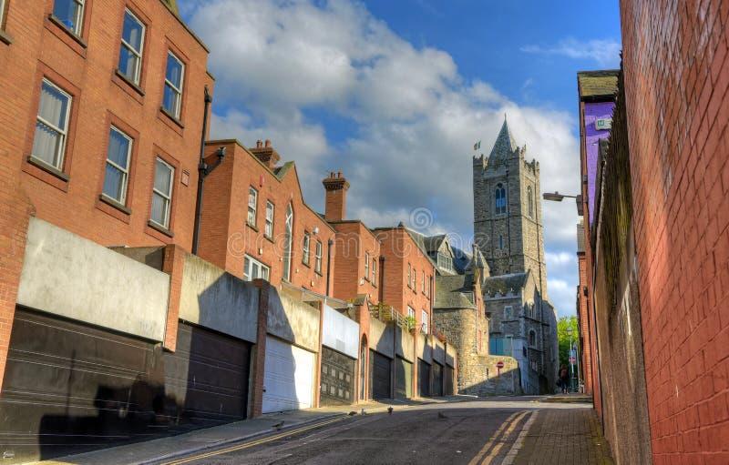 基督教会大教堂在都伯林,爱尔兰 免版税图库摄影