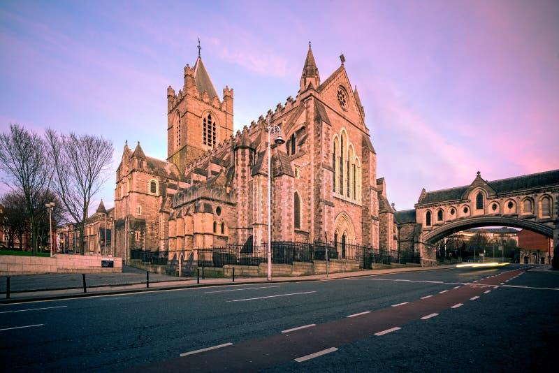 基督教会大教堂都伯林爱尔兰 库存图片