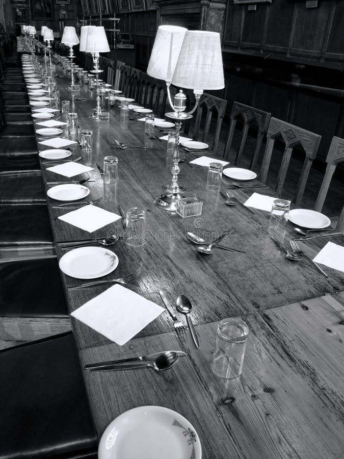 基督教会学院牛津大学伟大的餐厅  免版税图库摄影