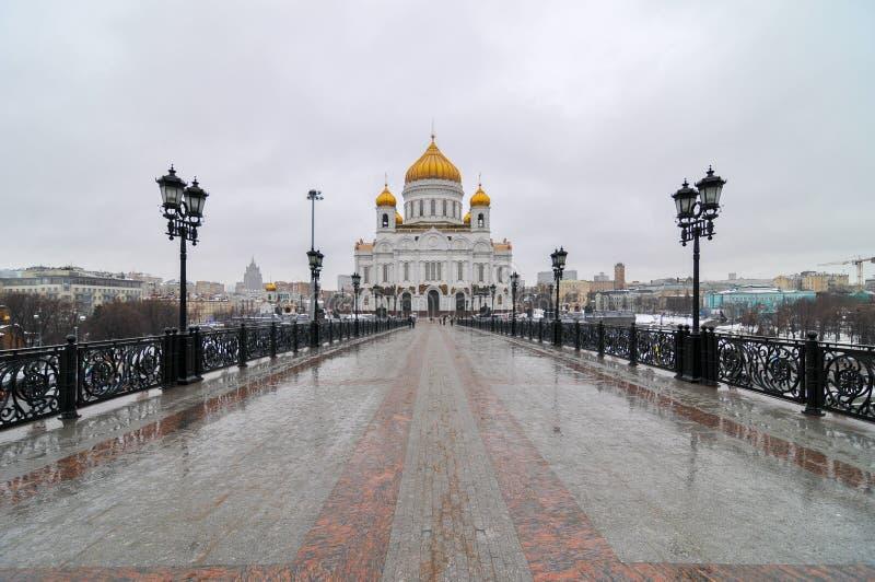 基督教会救主-莫斯科,俄罗斯 库存图片