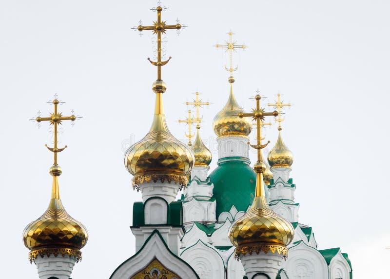 基督教会的被镀金的圆顶 库存照片