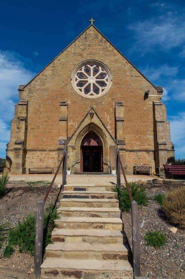 基督教会英国国教的教堂在Castlemaine 免版税库存照片