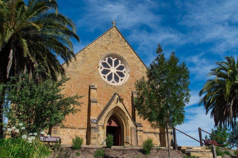 基督教会英国国教的教堂在Castlemaine 图库摄影