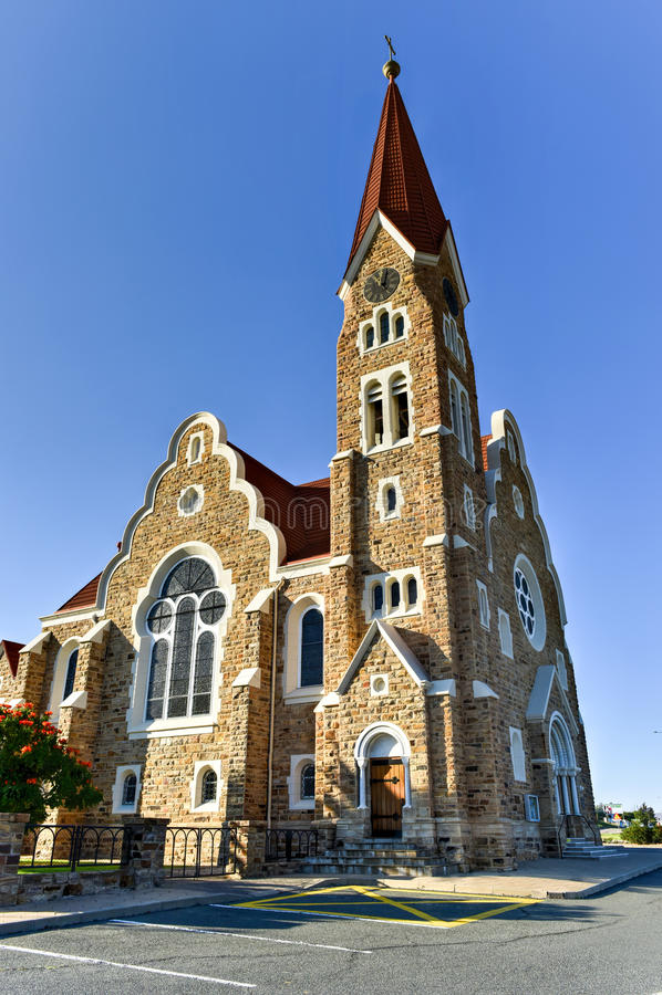 基督教会-温得和克,纳米比亚 库存图片