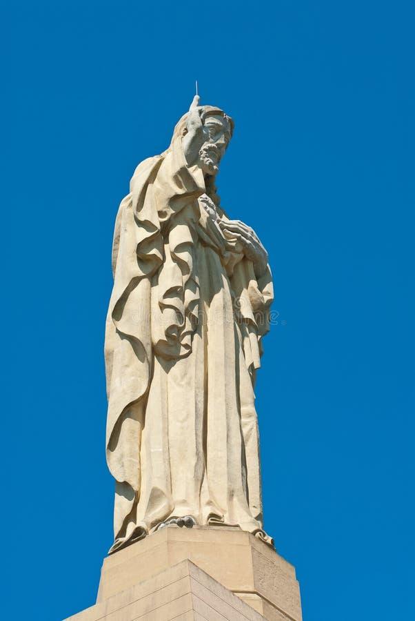 基督特写镜头纪念碑 图库摄影