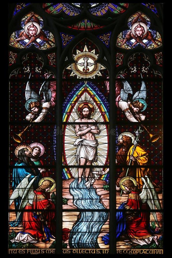 基督的洗礼 免版税库存照片