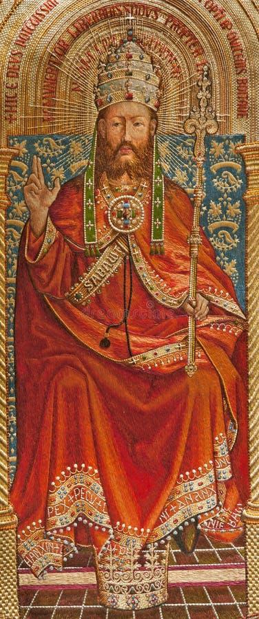 基督绅士耶稣国王刺绣用品 免版税库存照片