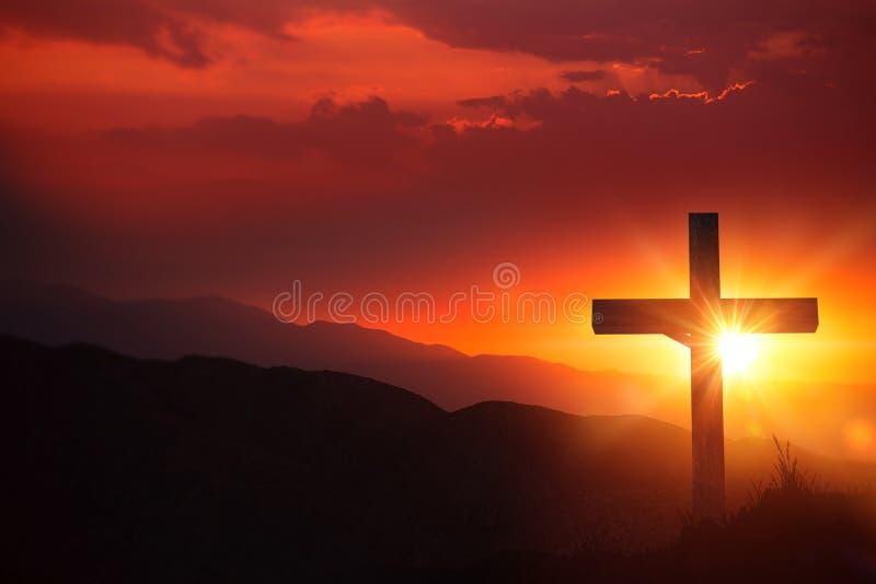 基督耶稣受难象光  图库摄影