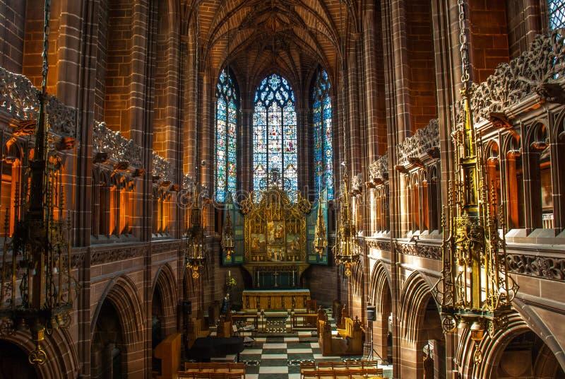 基督英国国教大教堂教会在利物浦 免版税库存图片