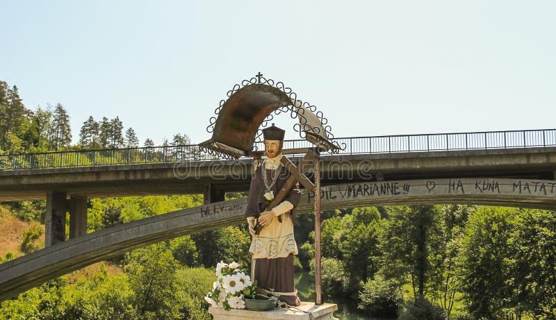基督雕象Rastoke的 免版税库存照片