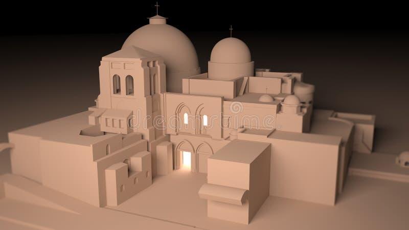 基督,圣洁坟墓,更改结构,耶路撒冷教会,基督徒处所坟茔  皇族释放例证