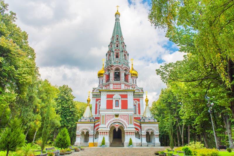 基督,希普卡,保加利亚诞生的纪念寺庙  库存图片