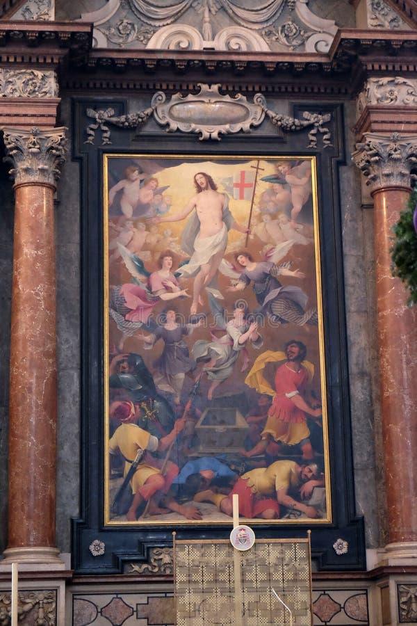 基督,萨尔茨堡主教座堂的复活的法坛 免版税图库摄影