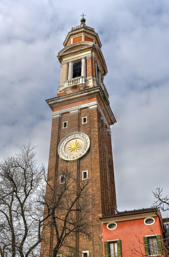 基督-威尼斯,意大利的圣洁传道者的教会 免版税图库摄影