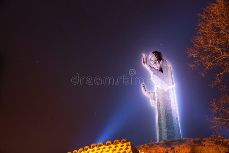 基督・耶稣雕象 免版税库存图片