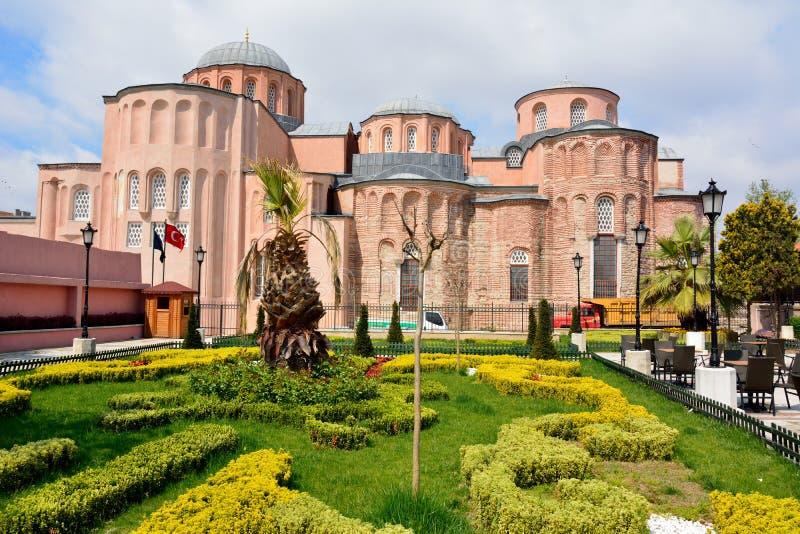 基督Pantokrator修道院的教会在伊斯坦布尔 免版税图库摄影