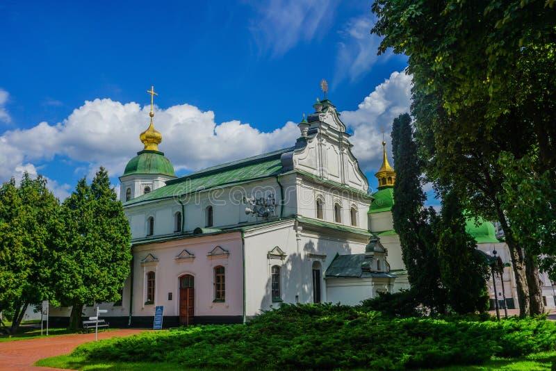 基辅圣徒索非亚的大教堂教会 免版税库存照片