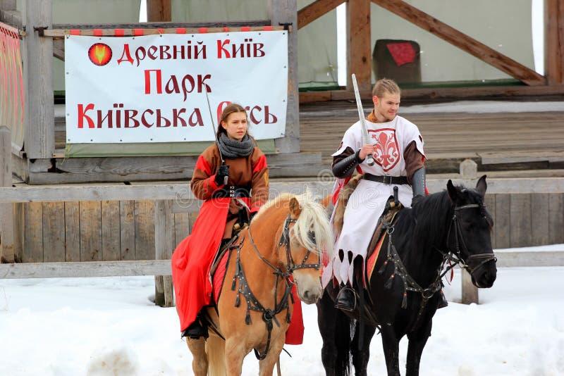 基辅罗斯主题乐园在Kopachiv,乌克兰 免版税库存图片