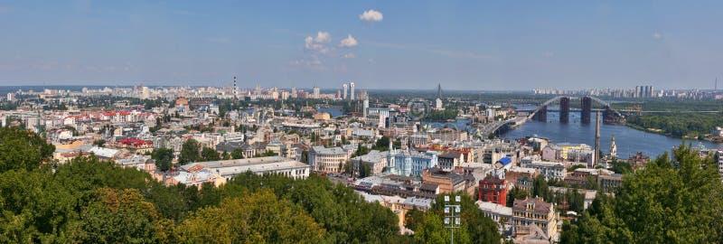 基辅都市风景全景 库存照片